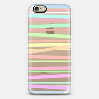 Pastel Rainbow Stripes II - Transparent/Clear background iPhone 6 case by Lisa Argyropoulos | Casetify