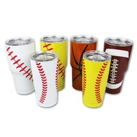 Basketball Tumbler 30 OZ or 20 OZ Stainless Steel Hot Cold Tumblers Gifts for Mom Dad Coaches