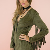 Slim Sexy V-neck Tassels Jacket One Piece Dress [9503684612]