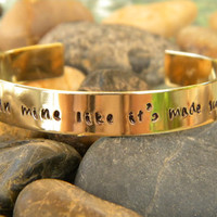 One Direction Song Lyric Bracelet - Your hand fits in mine...