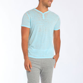 Miami Style® - Fitted Two Button V-Neck T-Shirt