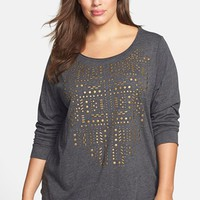 Plus Size Women's Lucky Brand Stud Front Tee,