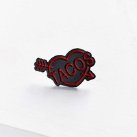 Move In Silence Taco Pin - Urban Outfitters