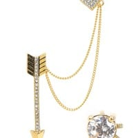 Pave Heart & Arrow Ear Cuff by Juicy Couture