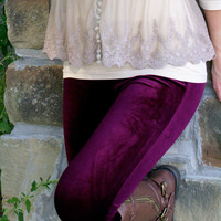Sweet As Candy Leggings: Wine