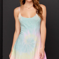 Billabong Same Name Pastel Tie-Dye Dress