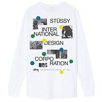 Dot Collage L/S Tee in White