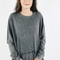 Washed Away Pullover - Slate