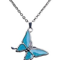 Mood-Changing Butterfly Necklace