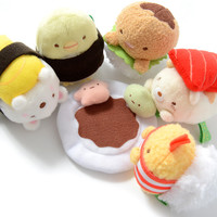 Sumikko Gurashi Sushi Party Hand Size Mini Plush Collection