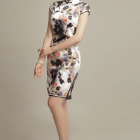 Chinese Floral Print Party Qipao