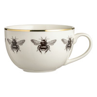 Porcelain mug - White/Bees - Home All | H&M GB