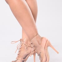 I Can See Thru You Heel - Taupe