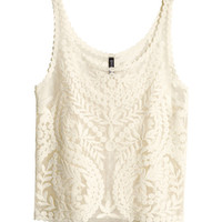 H&M - Lace Tank Top -