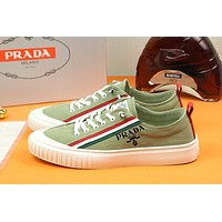 prada men fashion boots fashionable casual leather breathable sneakers running shoes 87