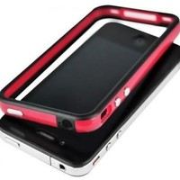 Red and Black Premium Bumper Case for Apple iPhone 4 - AT&T