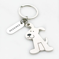 Personalized Dog Keychain - Pet Keychain - Pet Loss - Memorial Gift - Dog Lovers Gift