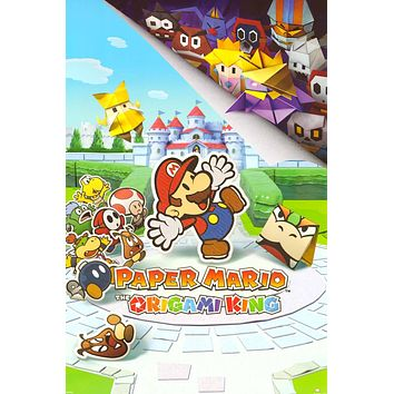 "Paper Mario: The Origami King Poster 24""x36"""
