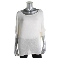 Velvet Womens Knit Batwing Pullover Sweater