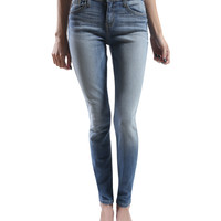 LE3NO Womens Vintage Washed Skinny Denim Jean Pants (CLEARANCE)
