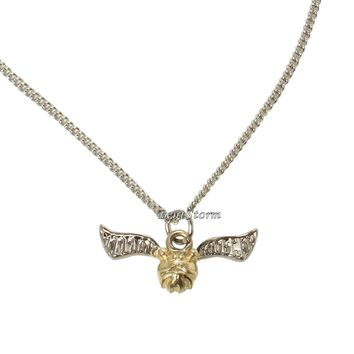 """Licensed cool Harry Potter Quidditch Golden Snitch Ball Pendant Charm Necklace Gift 1""""x1/2"""""""