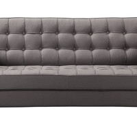 Romano Tufted Sofa Dark Grey