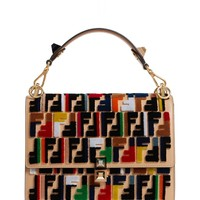 Fendi Kan I Logo Embellished Leather Shoulder Bag | Nordstrom