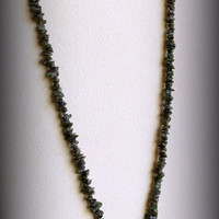 Emerald Necklace with Lampwork Glass Pendant and Sterling Silver, Statteam