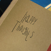 happy thoughts - 5 x 7 journal