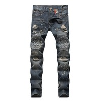 Autumn Slim Ripped Holes Jeans [1574711263325]