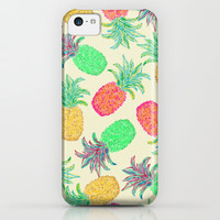 Pineapple Pandemonium (multicolor) iPhone & iPod Case by Lisa Argyropoulos
