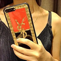 YSL Fashion Personality iPhone Phone Cover Case For iphone 6 6s 6plus 6s-plus 7 7plus 8 plus I12276-1