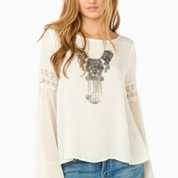 WILLOW BLOUSE IN IVORY