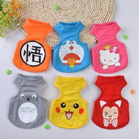 2016 New Summer And Spring Cute Dog VestS Cartoon Small Animals Dog Vest Teddy Dog Puppy Clothes Pet Shirt Roupa Para Garment