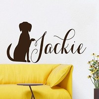 Wall Decals Vinyl Decal Sticker Custom Dog Personalized Nickname Animals Cute Puppy Pets Grooming Salon Pet Shop Kids Nursery Baby Boy Girl Room Decor Interior Design Kg879
