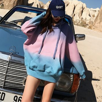 Letter Embroidered Cap Jacket Bathrobe Fluffy Long Sleeve Jacket [4106587439140]