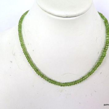 Peridot Single Strand Choker, August Birthstone Gift For Her