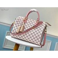 lv louis vuitton women leather shoulder bags satchel tote bag handbag shopping leather tote 121