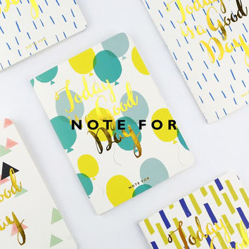 Today is a Good Day Soft Cover A6 Notebook Diary Book Exercise Composition Binding Note Notepad Gift Stationery