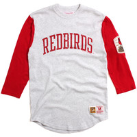 St. Louis Cardinals Extra Out 3/4 Sleeve Raglan Heather Grey / Red