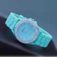 Mint Color Silicone Watch kX004