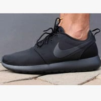 """NIKE"" Women Men Running Sport Casual Shoes Sneakers Black"