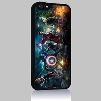 Cover Marvel's the Avengers for Iphone 4/4s 5 5c 6 6plus Case (iphone 6plus black)