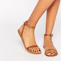 ASOS | ASOS FINLAY Leather Flat Sandals at ASOS