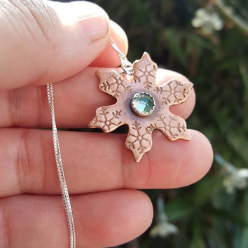 Snowflake Pendant,  baby it's cold outside,  winter jewelry, snow pendant, Snowflake
