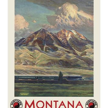 Montana Northern Pacific Railroad Poster