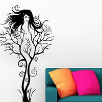 Tree Wall Decal Image Of The Girl Vinyl Sticker Plant Decals Home Decor Bedroom Art Design Interior C549