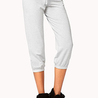 FOREVER 21 Cropped Lounge Sweatpants