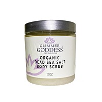 Organic Dead Sea Salt & Shea Butter Body Scrub - Exfoliate & Rejuvenate