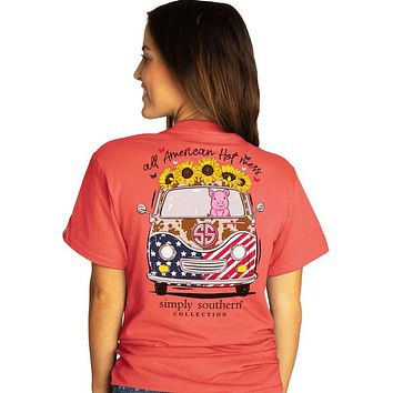 Simply Southern Preppy All American Hot Mess USA T-Shirt